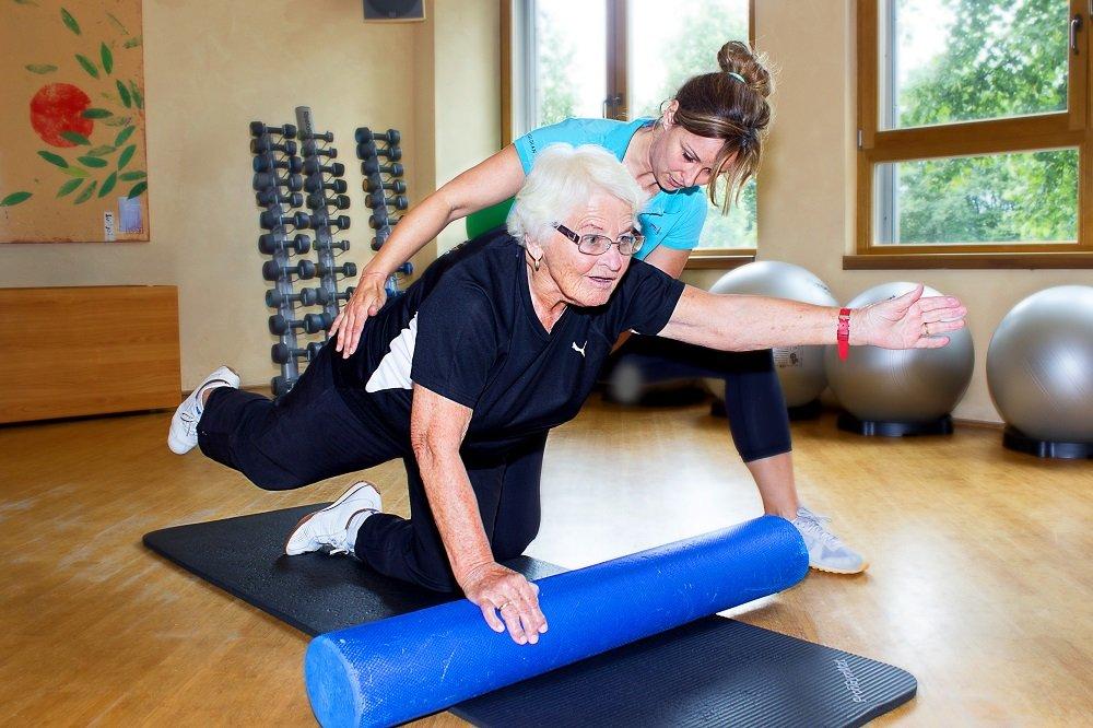 Aktiv bis ins hohe Alter. Erna Pukowski (89) geht mehrmals die Woche in ein Sportstudio