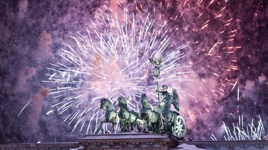 Silvester-Feuerwerk am Brandenburger Tor