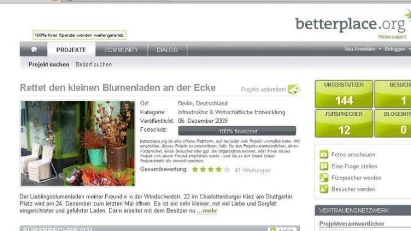 internet nutzer retten berliner blumenladen berlin aktuell berliner morgenpost. Black Bedroom Furniture Sets. Home Design Ideas