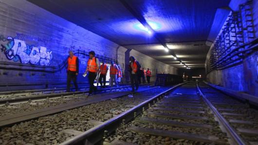 Der Nord-Süd-Tunnel, hier der Abschnitt am Potsdamer Platz, wird für dreieinhalb Monate gesperrt