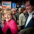 Bundeskanzlerin Angela Merkel beim Wahlkampfabschlussveranstaltung der Berliner CDU im Tempodrom.