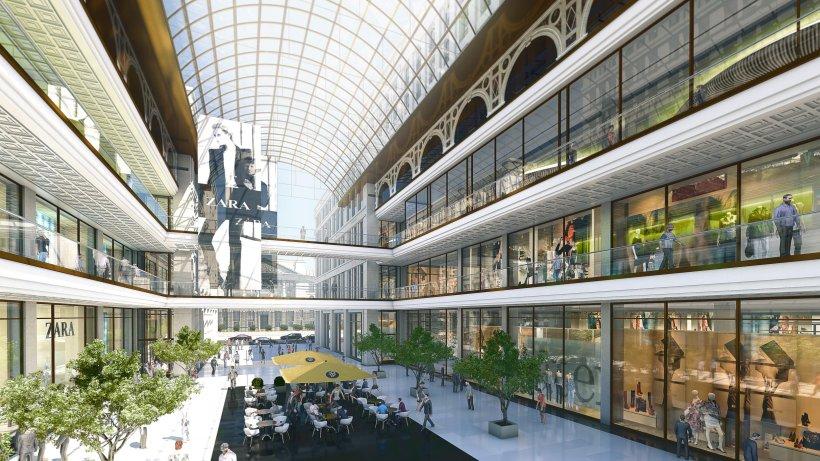 so sieht die mall of berlin am leipziger platz aus. Black Bedroom Furniture Sets. Home Design Ideas