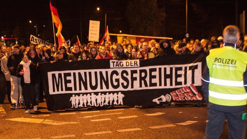 Demonstration Gegen Asylbewerber