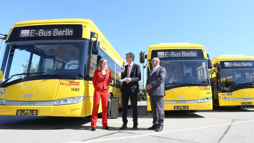 bvg testet elektro busse gelb f hrt auf gr n ab berlin. Black Bedroom Furniture Sets. Home Design Ideas