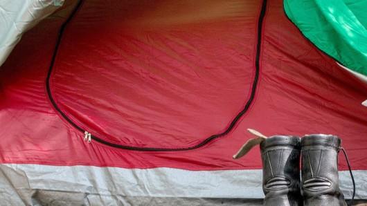 Ein illegales Zelt im Berliner Tiergarten (Archivbild)