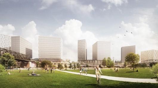 """Am Bahnhof Gleisdreieck soll die """"Urbane Mitte"""" entstehen"""