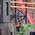 Arbeiten an der Kulisse Neue Berliner Straße. Sie soll künftig eine Größe von über 15.000 Quadtratmeter haben.
