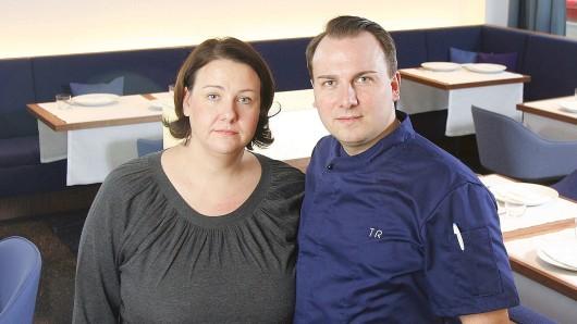 Tim und Marie-Anne Raue in ihrem Restaurant Tim Raue in Kreuzberg