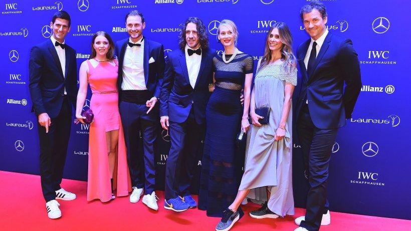 laureus-award  mit den stars auf dem roten teppich