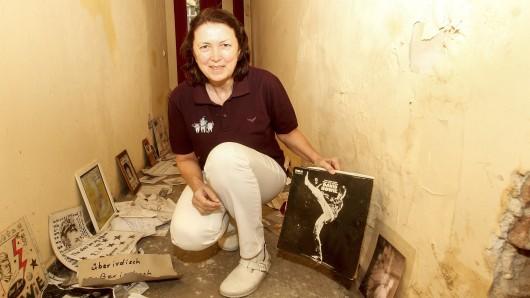 Zahnärztin Annette Seewaldt hat die Erinnerungen an David Bowie vor der Haustür in der Hauptstraße 155 gerettet