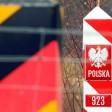 Ein Grenzpfeiler an der deutsch-polnischen Grenze