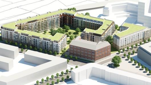 Der Investor Hines hat das 21.500 Quadratmeter große Grundstück an der Gotenstraße gekauft. Die Architektur soll noch überarbeitet werden