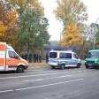 An der Bachstraße waren die beiden Personen aufeinander losgegangen. Polizei und Notarzt rückten an