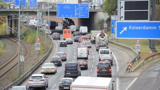 Die Unfälle ereigneten sich zwischen Dreieck Funkturm und Ausfahrt Kaiserdamm (Archivbild)