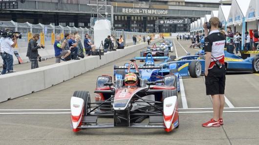 Das Formel-E-Rennen 2015 am ehemaligen Flughafen Tempelhof