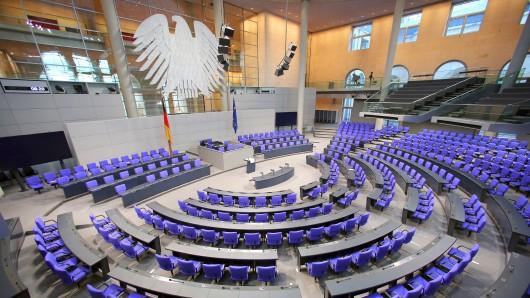 Der Plenarsaal des Bundestags (Archivbild)