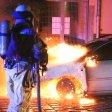 In der Sophienstrasse in Lichtenberg hat Dienstagnacht ein Auto gebrannt