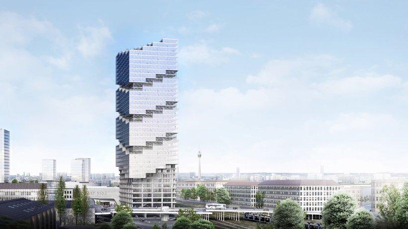 140-Meter-Hochhaus an der Warschauer Brücke in