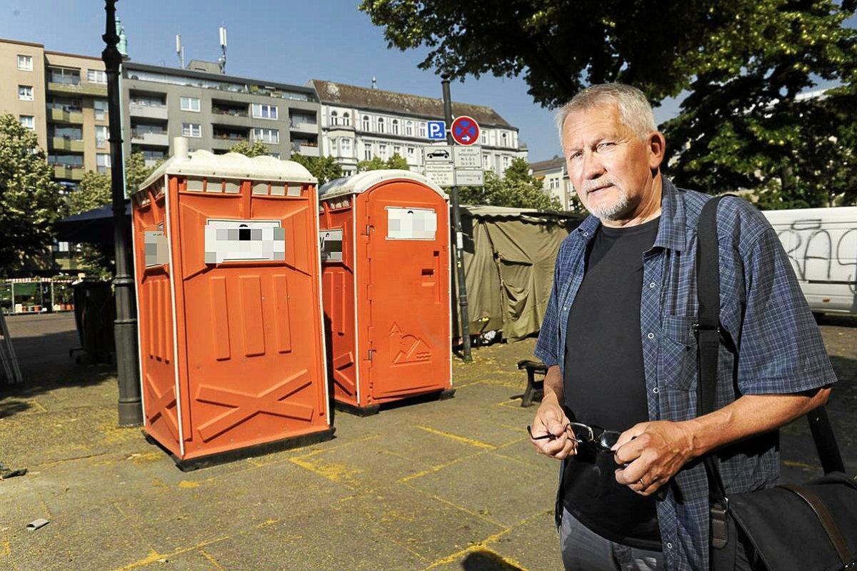 Der absurde Streit um die Toiletten am Winterfeldtmarkt