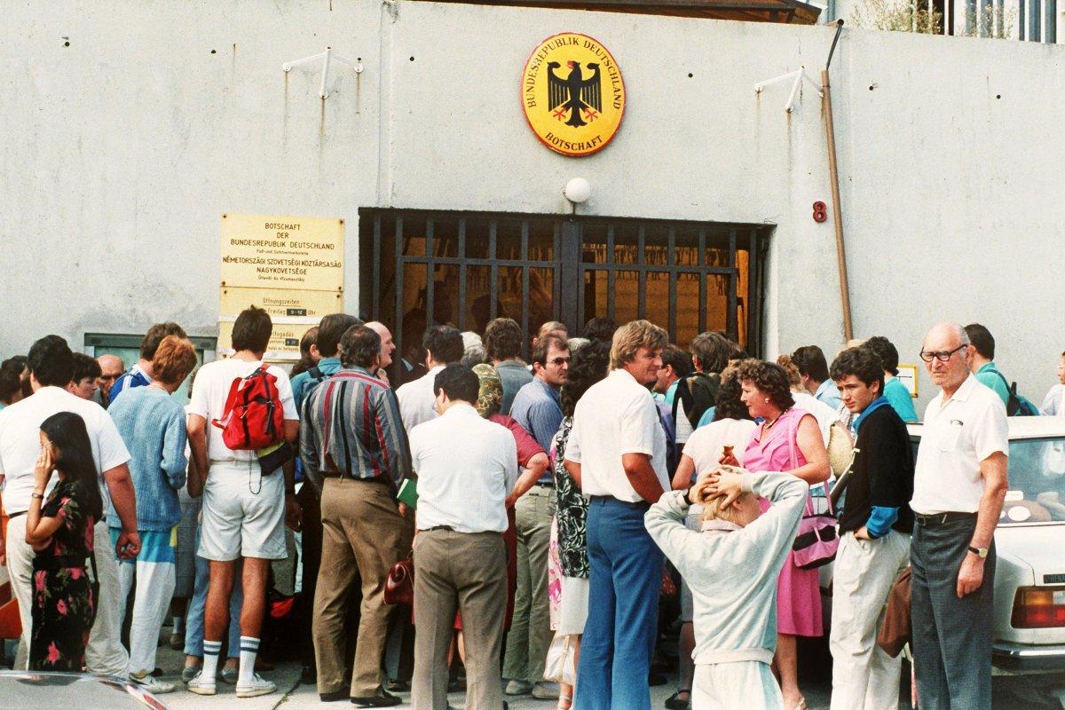Als die Massenflucht aus der DDR über Ungarn einsetzte