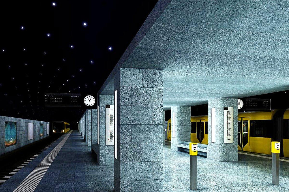 U5 in Berlin-MItte - Ende 2020 fährt Berlins neue U-Bahn