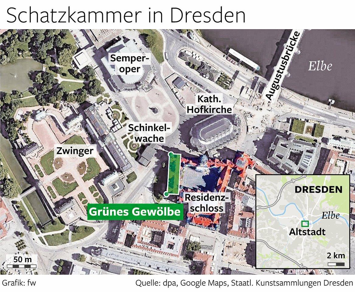 Die Schatzkammer in Dresden.