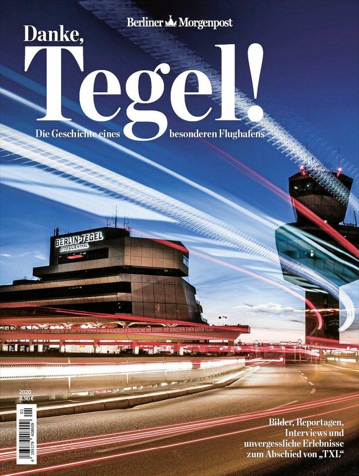 """Das Morgenpost-Magazin """"Danke, Tegel!"""" ist erhältlich ab 25. Juni. Der Preis: 8,90 Euro, für Abonnenten 7,90 Euro."""