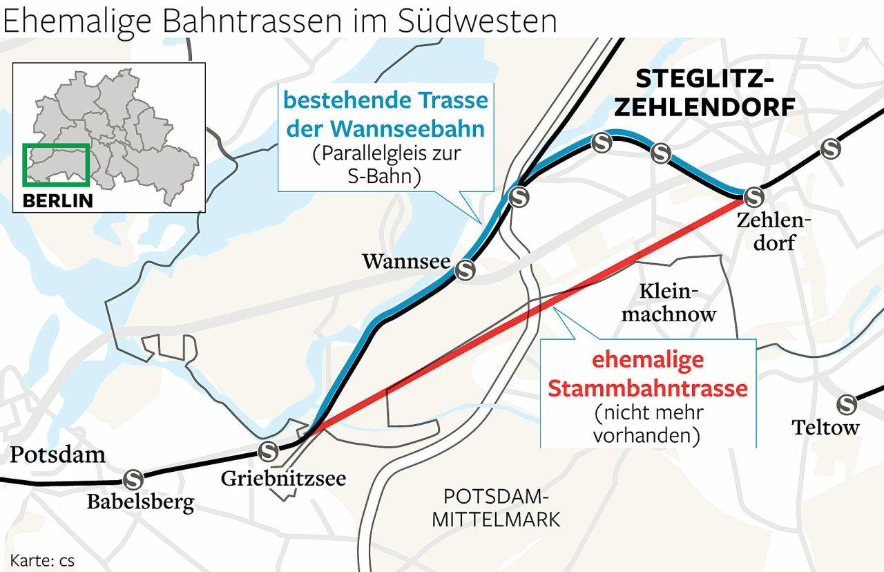 Stammbahn oder Wannseebahn - darüber wird seit Jahren diskutiert.