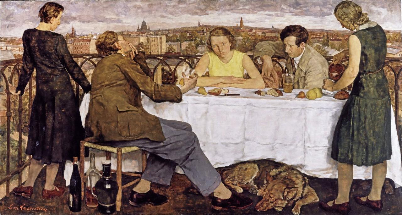 """Lotte Lasersteins berühmtes Gemälde """"Abend über Potsdam"""" (1930) zählt zu den Werken, die ab dem 22. August in der Neuen Nationalgalerie gezeigt werden sollen."""