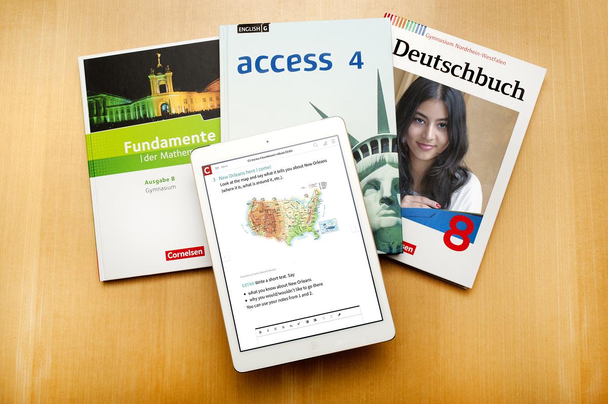 """Das """"mBook"""" aus dem Hause Cornelsen war bereits zwei Mal Schulbuch des Jahres."""
