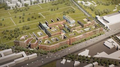 Die Arbeitswelt von morgen: Eine Milliarde Euro investiert  der Projektentwickler Wohnkompanie in  das Mammut-Projekt auf dem ehemaligen Reemtsma-Gelände.