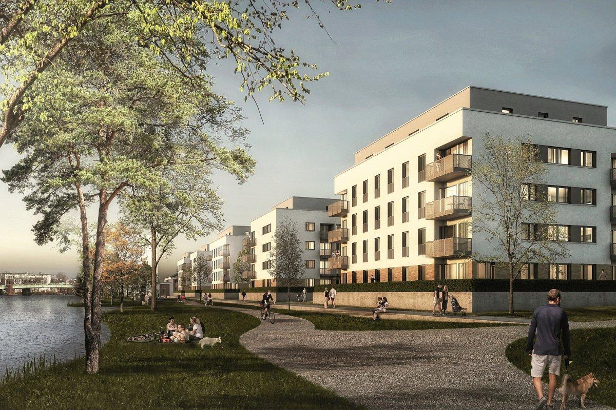 Spandau: Waterkant wächst - Grundstein für 364 Wohnungen gelegt