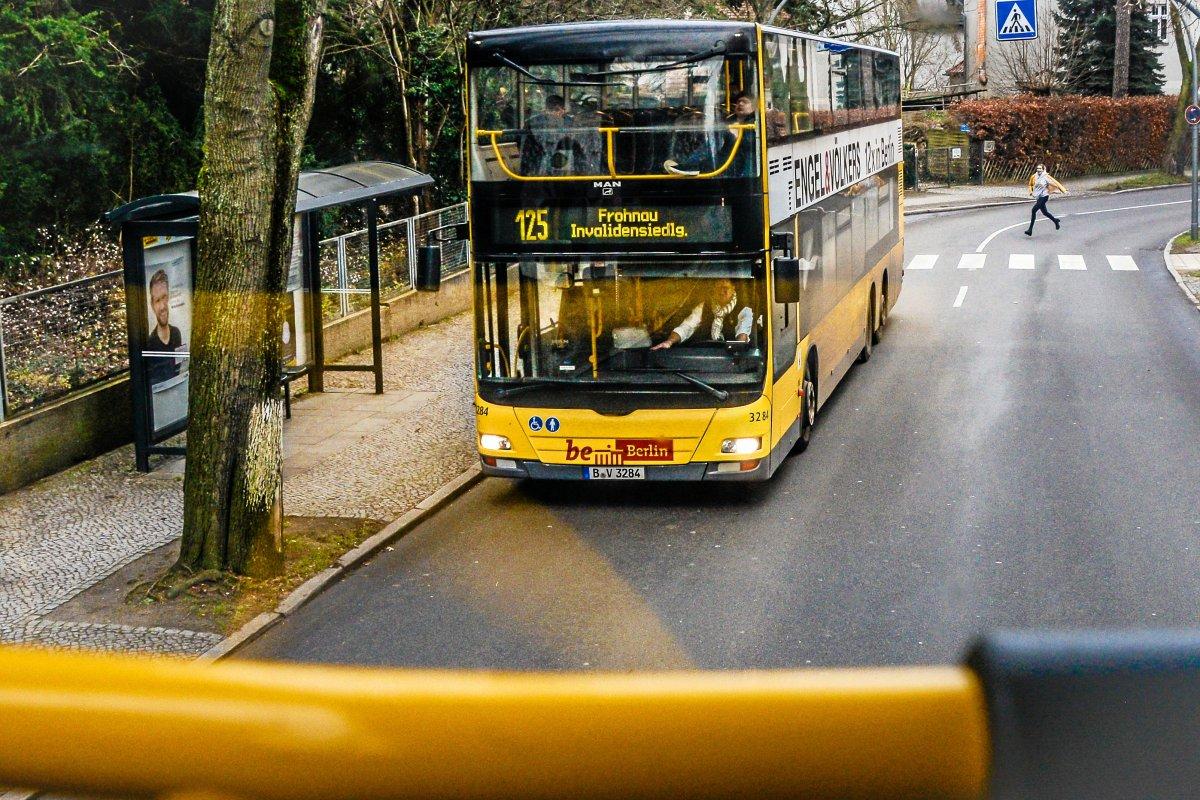 BVG: Taktverdichtung der Busse der Linien 124 und 125 in Reinickendorf erst ab 2020
