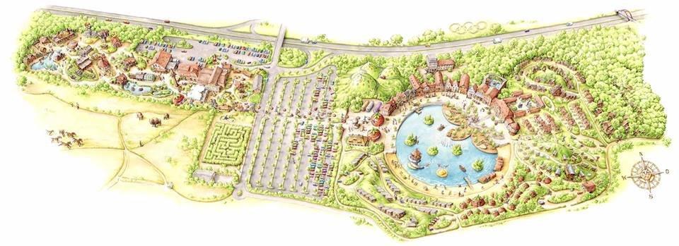 So könnte der neue Freizeitpark in Elstal aussehen. 2021 soll der erste Bauabschnitt fertig sein