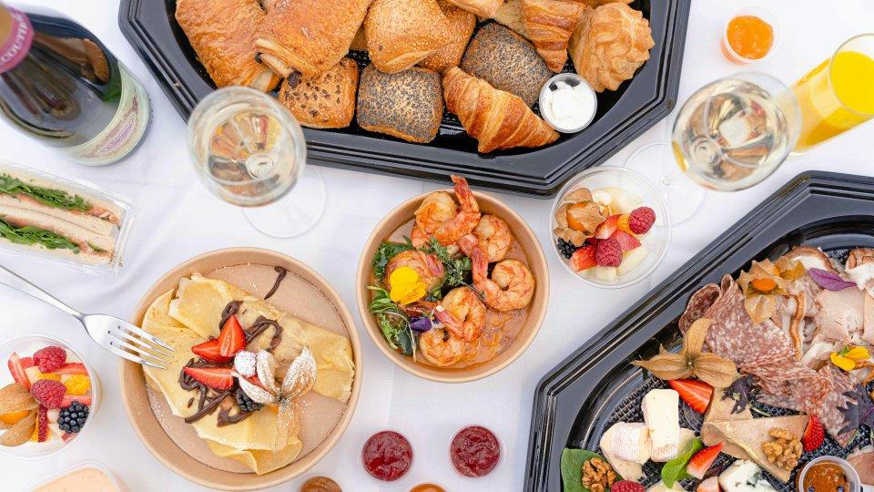 """Frühstück in der """"Ganymed Brasserie"""", inspiriert von der Küche Frankreichs."""