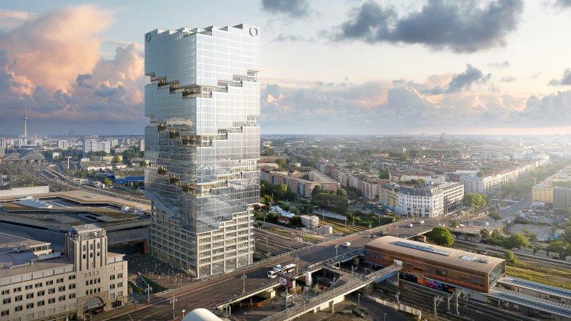 Berlins vorerst höchster Turm entsteht in Friedrichshain