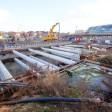 Derzeit wird an der Anbindung des Hauptbahnhofs an die nördliche Ringbahn gearbeitet