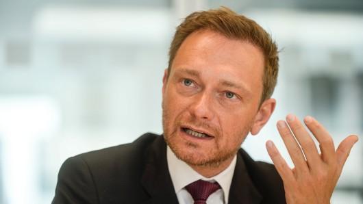 Macht seinen Liberalen Mut: FDP-Chef Christian Lindner vor dem Bundesparteitag in Berlin