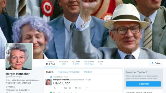 Screenshot des Margot-Honecker-Satireprofils