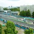 Blick auf die Rennstrecke an der Karl-Marx-Allee in Berlin beim Formel-E-Rennen im Mai 2016