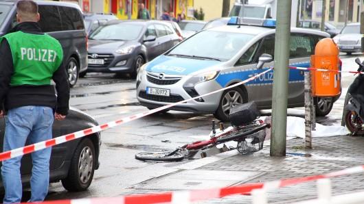 Ein Verkehrsunfall auf der Köpenicker Landstraße im Juni 2016