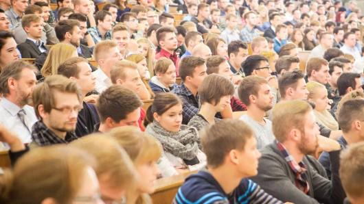 Hörsaal voller Studenten