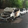 Die abgebrannten Autos in der Robert-Lück-Straße