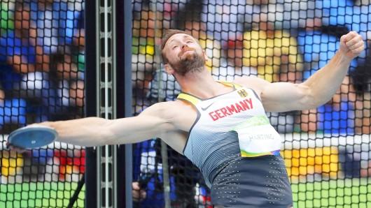 Robert Harting während des Wettkampfes in Rio