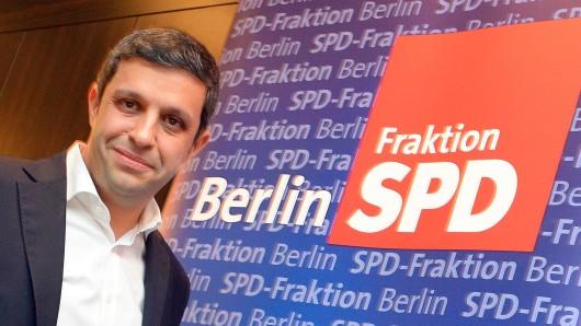 Der Fraktionsvorsitzenden der Berliner SPD, Raed Saleh