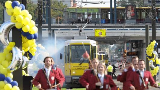 Eine Tatrabahn beim Jubiläum im September 2016