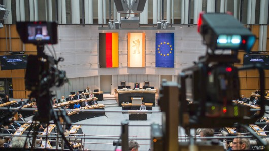 Der Blick in den Plenarsaal des Berliner Abgeordnetenhauses
