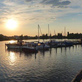 Sonnenuntergang über der Rummelsburger Bucht