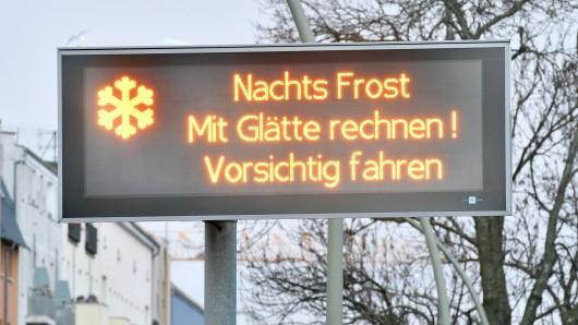 Der Deutsche Wetterdienst sagt für die Region bis zum Dienstagmittag Frost und starke Bewölkung vorher