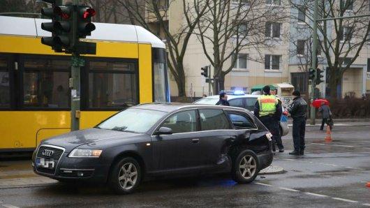 Unfall an der Landsberger Allee